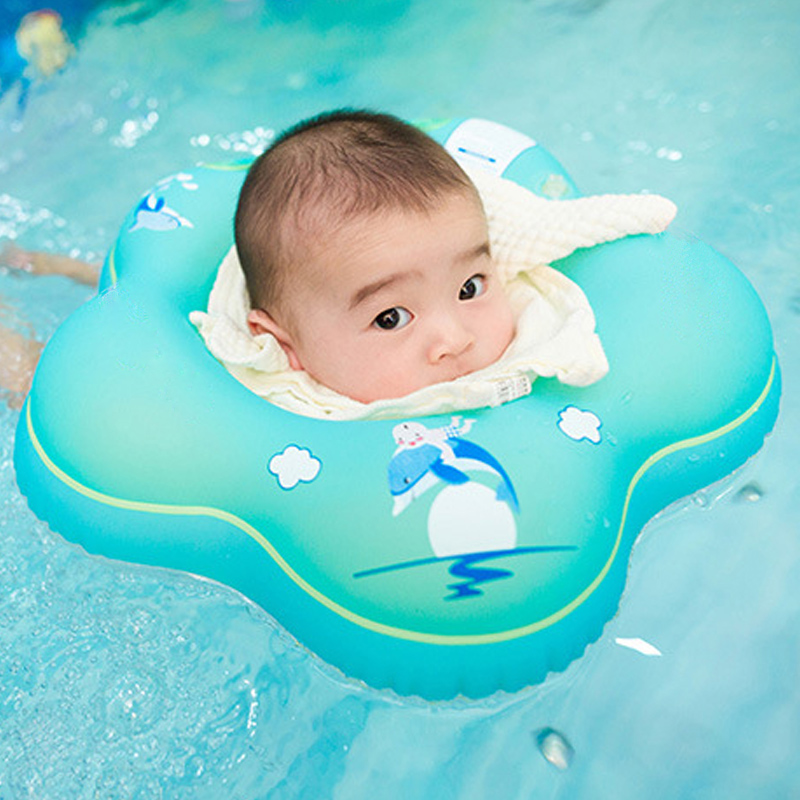 Inflatable Swim Ring Baby Neck Float Bathing Circle for Swimming ...
