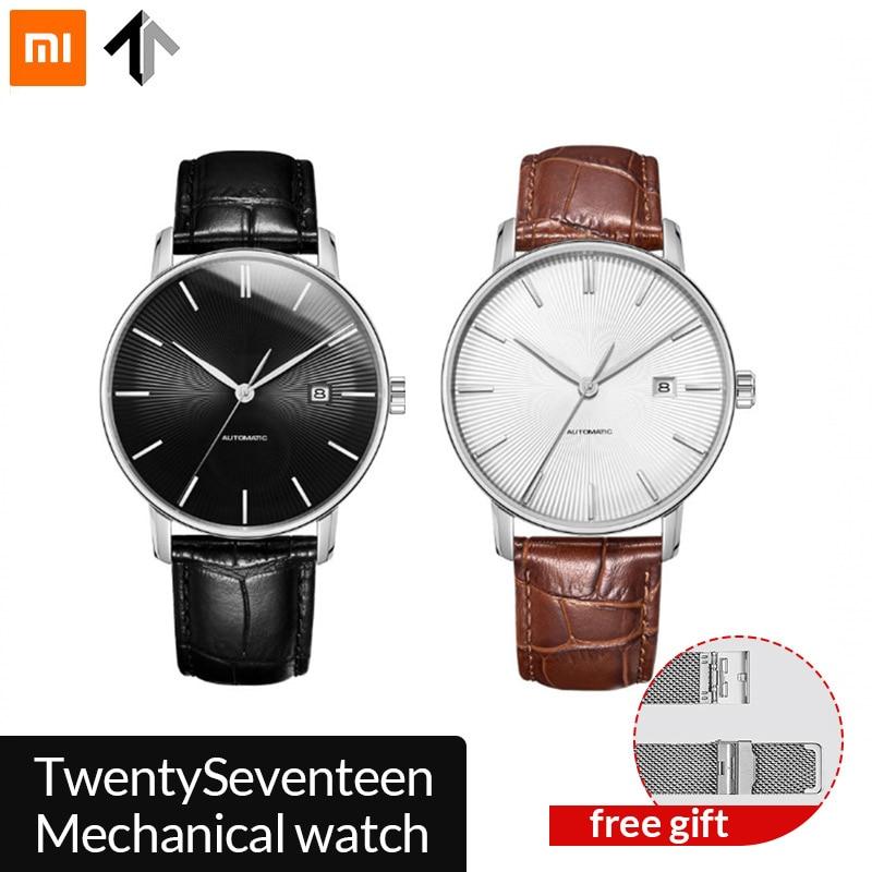 Original xiaomi mijia TwentySeventeen Mechanical watch With Sapphir Fully automatic mechanical movemente Surface Leather Strap
