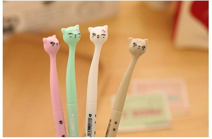 Super Cute Cat Cartoon School Gel Pens