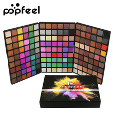 Popfeel 162 Color Eye Shadow Palette Long-lasting Matte Eyeshadows Shimmer Eyeshadow Easy To Wear Eyes Make Up Cosmetics