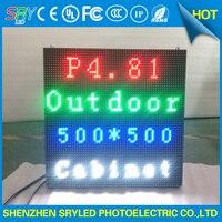 Sahne Kiralama Işık Döküm Alüminyum LED Ekran Paneli 500x500mm Açık HD P4.81 SMD Tam Renkli LED