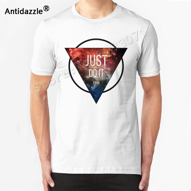69ff554bc3b2 Antidazzle Customize Summer triangle Geometric Palace Design Just Do It  Letter Men s T shirt Casual T-shirt Fashion Tees Tops