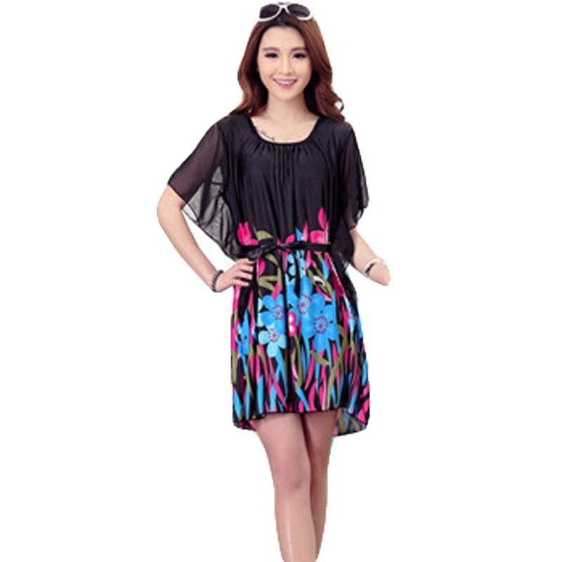 Silk chiffon dress plus size