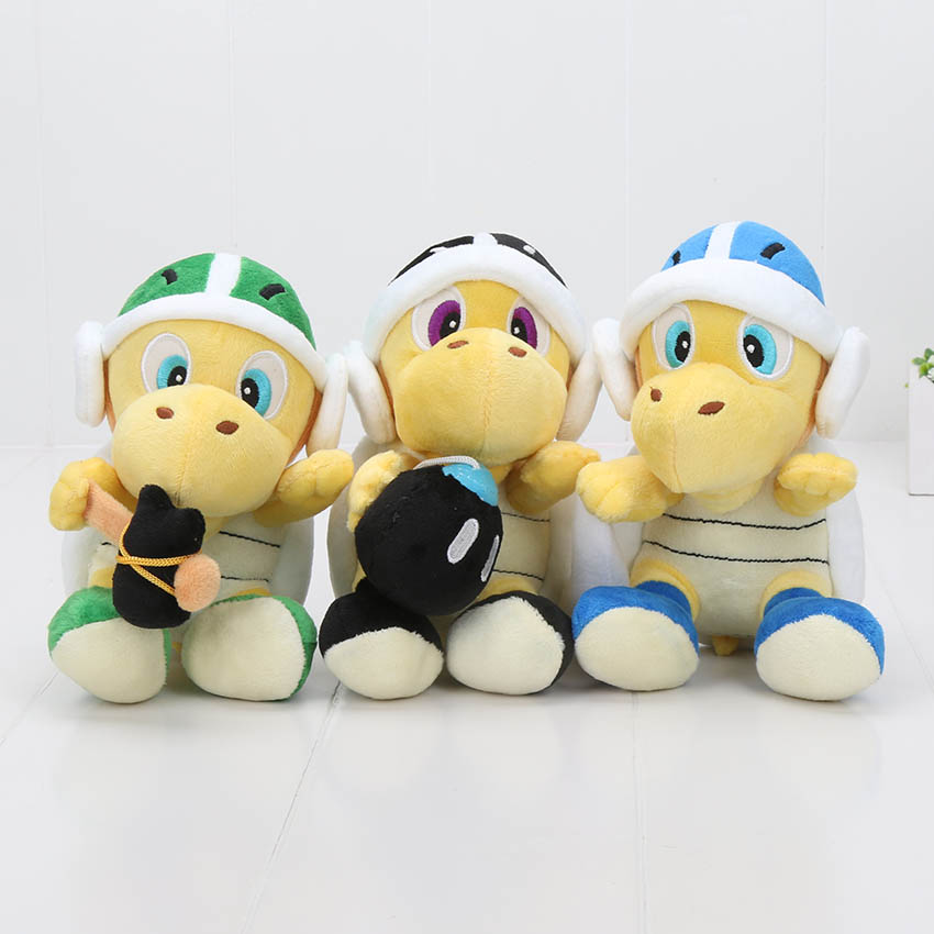 3 шт./компл. Super Mario Плюшевые Игрушечные лошадки 18 см Super Mario Bros Купа TROOPA Аниме плюшевые куклы Игрушечные лошадки детский подарок