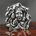 Newest 316L Stainless Steel Medusa Ring Mens Ring Band Party Cool Snake Medusa Ring