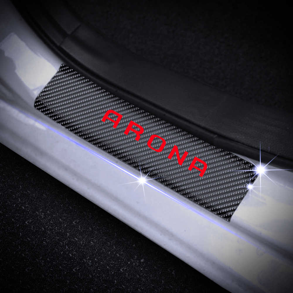 Stainless Car Door Entry Guards Cover Protector Threshold Kick Plates Welcome Pedal Plate Car Styling Accessories TQGG Guard Scuff Plate For SEAT Arona 4pcs