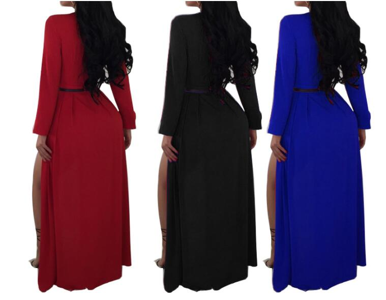 Sexy Women Playsuit Party Black Elegant V Neck Solid Cape Long Sleeve Sleeve Cloak Jumpsuit Autumn Winter Rompers withe Belt in Rompers from Women 39 s Clothing