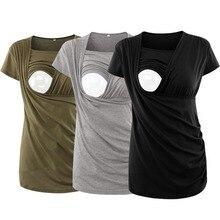 Одежда для кормления, топ для беременных, полосатая футболка для кормления грудью, женские топы для беременных, Повседневная рубашка с рюшами, Ropa Embarazada
