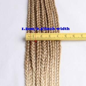"""Image 3 - Luxe pour tressage cheveux synthétiques Ombre violet brun blond 24 """"12 brins/pc 110g Jumbo Crochet boîte tresses"""