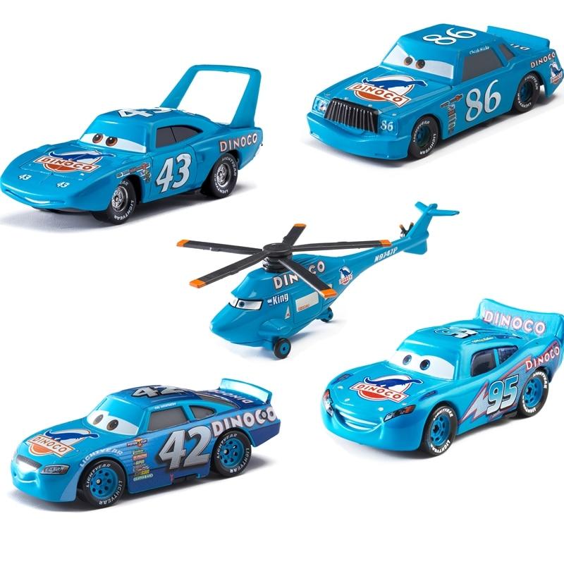Disney Pixar Cars Dinosaur Oil Series Lightning McQueen Jackson Storm Ramirez 1:55 Diecast Metal Model Toys For Children Gift