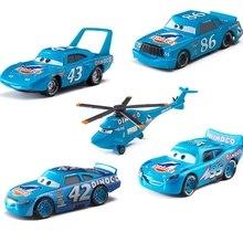 Disney Pixar Cars serie de aceite de dinosaurio Lightning McQueen Jackson Storm Ramírez 1:55 juguetes modelo de Metal fundido para regalo de niños