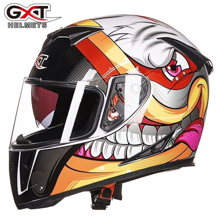 Free shipping 1pcs New 6 Colors DOT Dual Visor Flip Up Racing Helmet Full Face Motocross Motorcycle Helmet цена