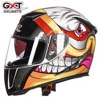 Free Shipping 1pcs New 6 Colors DOT Dual Visor Flip Up Racing Helmet Full Face Motocross