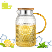 Oneisall Glass Water Pot 1000Ml 1L Heat Resistant Water Jug Square Kettle Boiling For Lemon Tea Home dispensador de chaleira