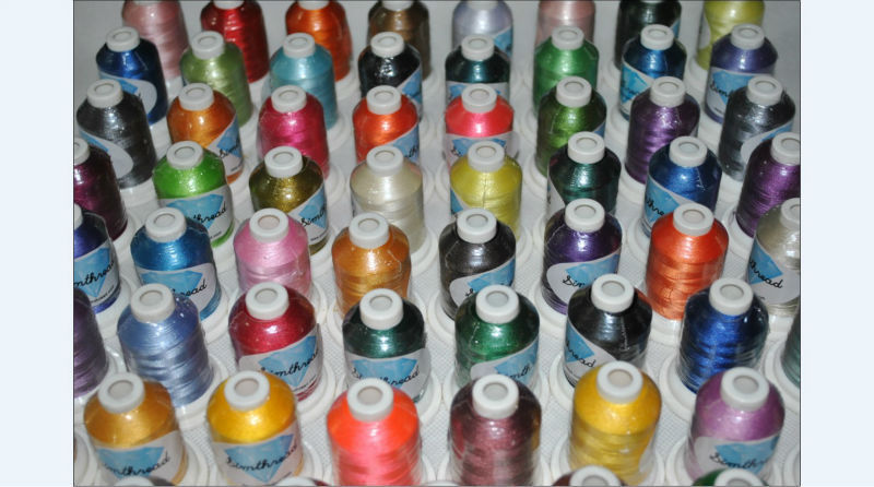 Free shipping high quality 61 Brother colors machine polyester embroidery thread+1000m/mini king spool + 15pcs A plastic bobbin-in Thread from Home & Garden    2