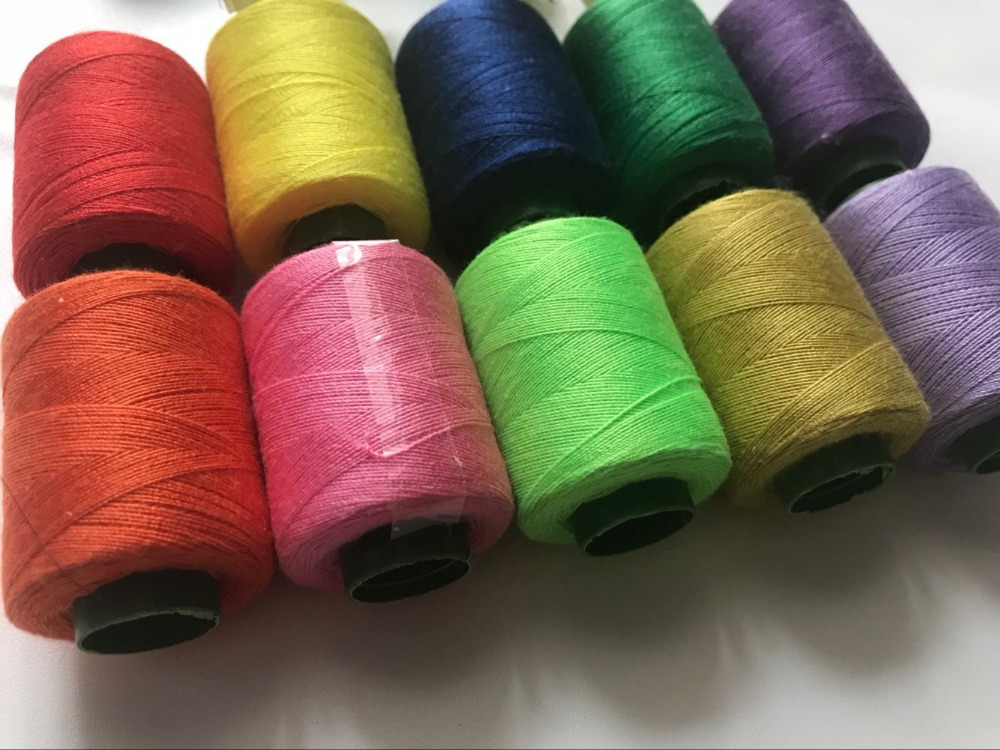 XMX-03 10 Pieces A Lot Colorful Sewing Threads For Homecraft Machine Sewing Threads