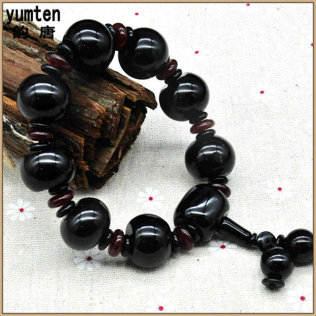 Yumten Natural Agate Round Hand String Necklace Erkek Bileklik Love Bangle Bracelet Homme New Fashion Jewelry Gift For Friend