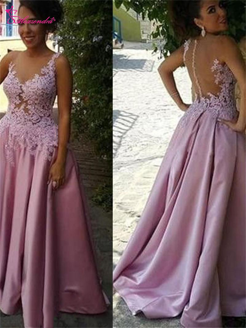 Alexzendra Fashion Purple Saudi Style   Prom     Dresses   Applique Beads Scoop Neck New Evening   Dress   Party   Dresses   Plus Size