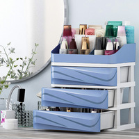 Plastic Cosmetic Organizer Drawer Makeup Organizer Box Storage With Holder Container For Tablets Office Sundry Storage Case
