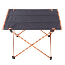 Portable Outdoor Aluminum Folding Table Ultralight Oxford Fabric Foldable Table with Bag Camping Hiking Picnic Equipment oxford cloth surface outdoor folding table stable waterproof portable camping table ultralight picnic bbq accessories can stored