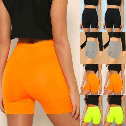 Kobiet Stretch Biker spodenki rowerowe elastyczna wysoka talia Hot krótki trening Fitness elastan legginsy szorty do kolan S M L XL