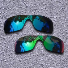 d75f38ffc9 Blue & Verde Esmeralda Lentes de Reposição para óculos Oakley Batwolf  Polarizada óculos de Sol