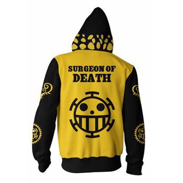 One Piece 3D Hoodie Sweatshirts Trafalgar Law