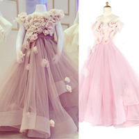Gorgeous Pink Glitz Pageant Dresses Mother Daughter Gowns Flower Girl Dresses For Wedding Kids Evening Dress