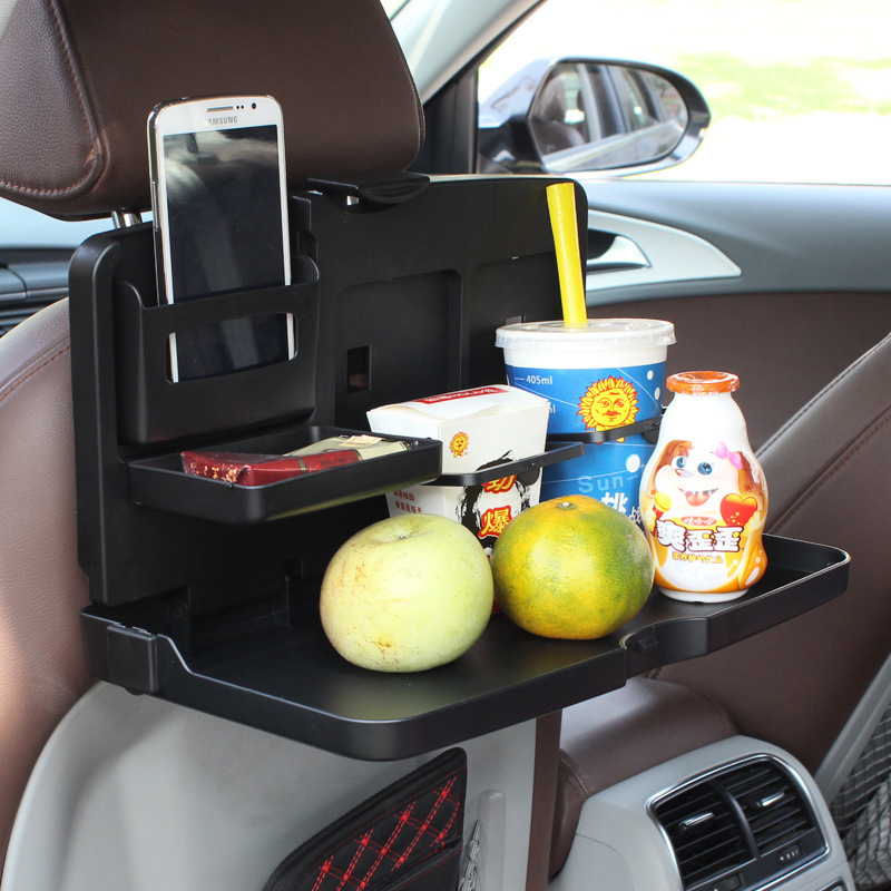 ALLGT font b Car b font Back Seat Folding Table Stowing Tidying Drink Food Cup Tray