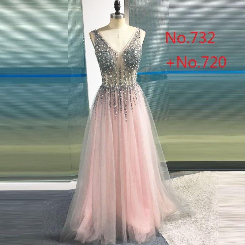 LORIE Prom Dresses 2019 Vestidos De Graduacion Deep V Neck Sexy - Särskilda tillfällen klänningar - Foto 5