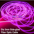100 m/roll Diámetro 3.0mm Cable de Fibra Óptica De Brillo Lateral Universal Decoración de Coches de Luz