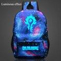 World of Warcraft Impressão Mochila Adolescente mochila sacos de Brilho Luminoso Animação menino Mochilas Laptop Feminino mochila Morcego