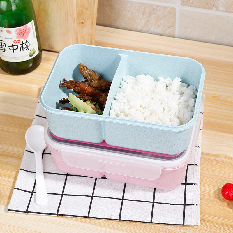 School Lunch Valley multi Bento Box Lunch Plastic Lunch Box Containers with Compartments Spoons Portable Microwave Lunchbox in Lunch Boxes from Home Garden