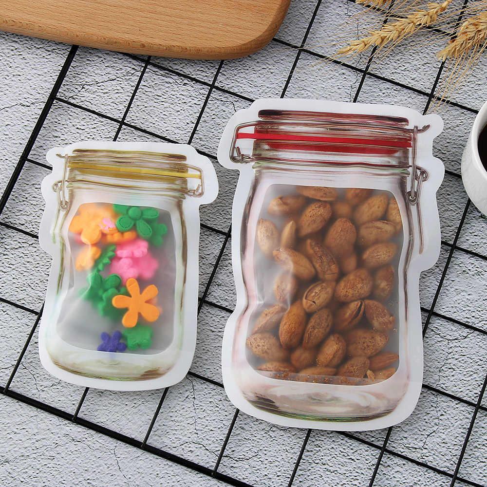 5Pcs New Useful Reusable Large/Small Mason Jar PE Lock