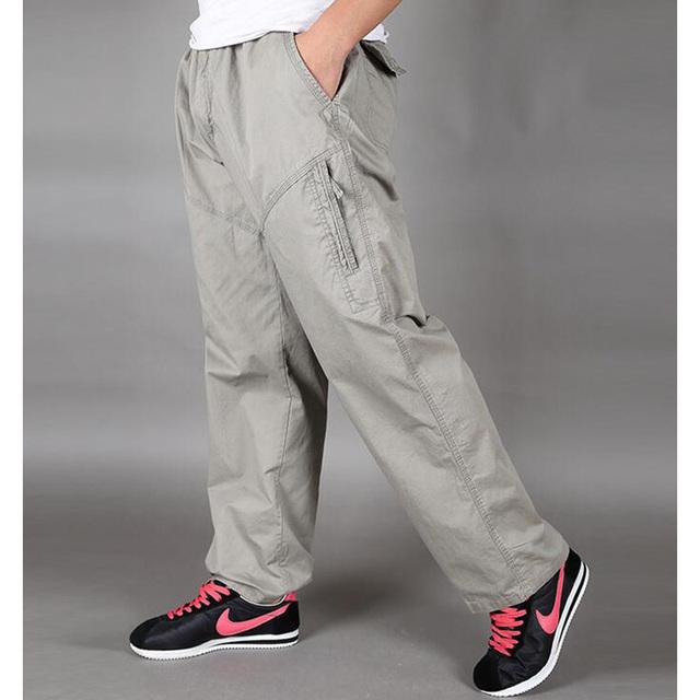 Pantalones Cargo de Los Hombres de los hombres Pantalones Pantalones Sueltos de Algodón Pantalones Hombre Pantalones XL 2XL 3XL 4XL 5XL 6XL