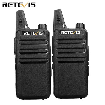2pcs Mini Walkie Talkie Retevis RT22 2W UHF CTCSS/DCS TOT VOX Scan Squelch Two Way Radio Communicator Ham Radio Hf Transceiver
