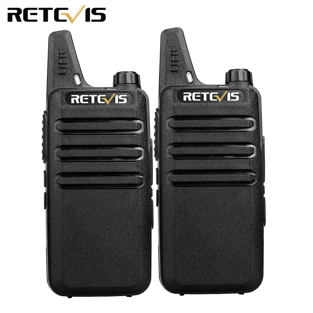 2 piezas Mini Walkie Talkie Retevis RT22 2 W UHF CTCSS/DCS TOT VOX escáner de silenciamiento de Radio de dos vías comunicador Radio transceptor Hf