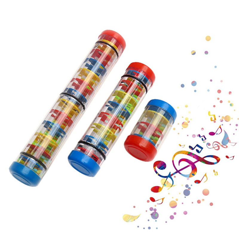 Toy Musical Instrument Plastic Rainbow Hourglass Rainmaker Rain Stick Musical Toy Raindrop Sound Kids Educational Toys