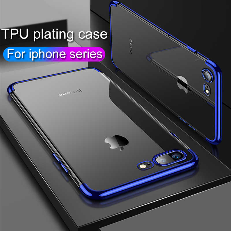 HICUTE Transparante TPU Siliconen Case Voor iphone 7 6 6S 8 Plus X XS MAX XR Case iphone 7x8 6 6s plus xs max luxe covers
