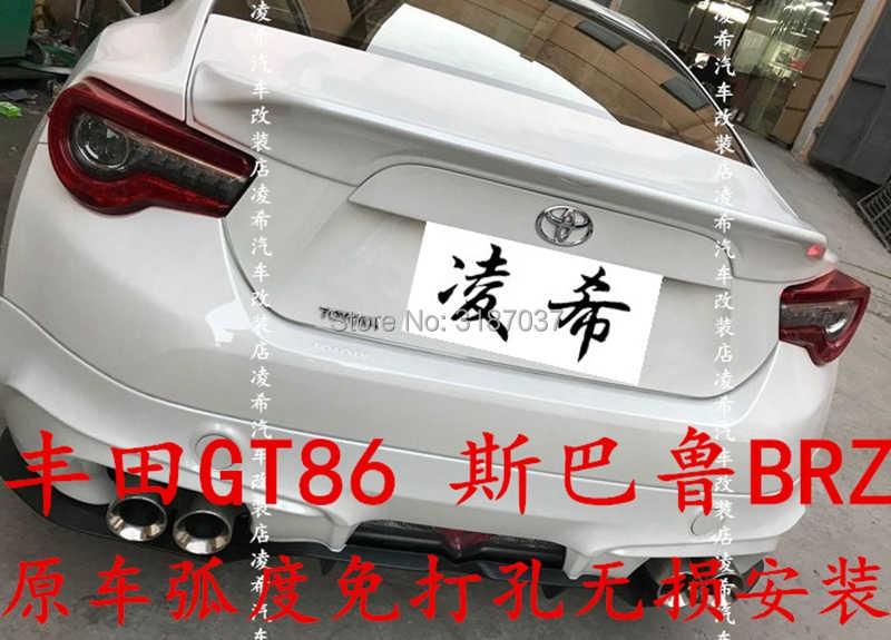トヨタ GT86 BRZ スポイラーウイング 2013-2017 ABS プラスチック塗装色ーリアルーフスポイラーウイングトランクリップブーツカバー