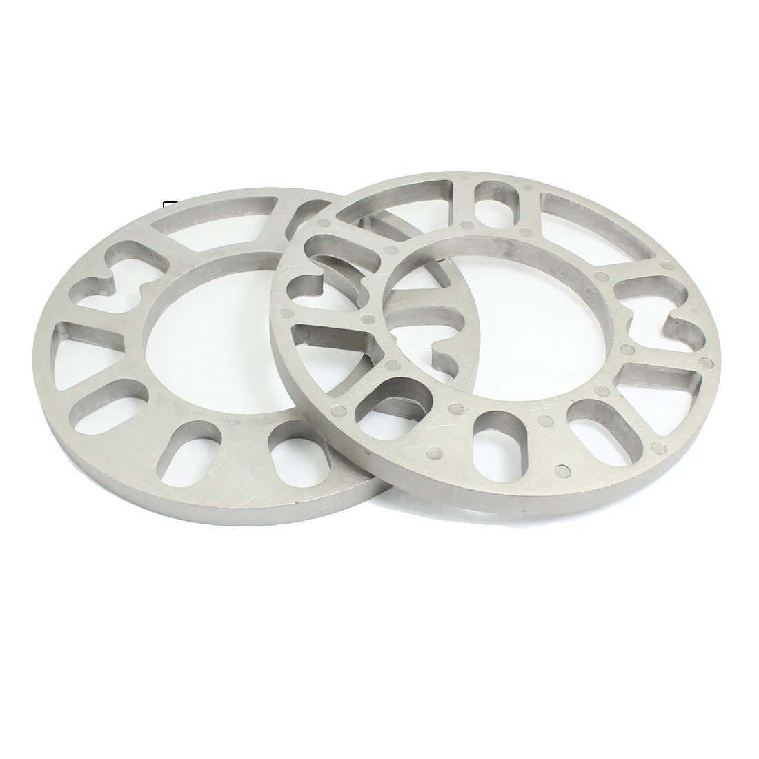 2PCS Aluminum Alloy 4 and 5 Lug 10mm Thickness Wheel Spacer for Car