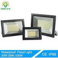 GreenEye Ultra Thin 220V LED Flood Light 100W 50W 30W 20W 10W Waterproof IP66 Floodlight Spotlight Outdoor Lighting 185 240V