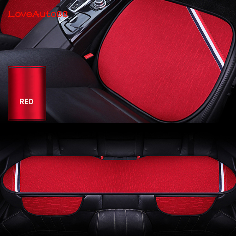 Image 2 - 3pcs Car Seat Cover Front Rear Seats Breathable Protector Mat Pad For Mercedes Benz W176 W117 W212 W204 C63 CLA GLA A 45 AMG-in Automobiles Seat Covers from Automobiles & Motorcycles