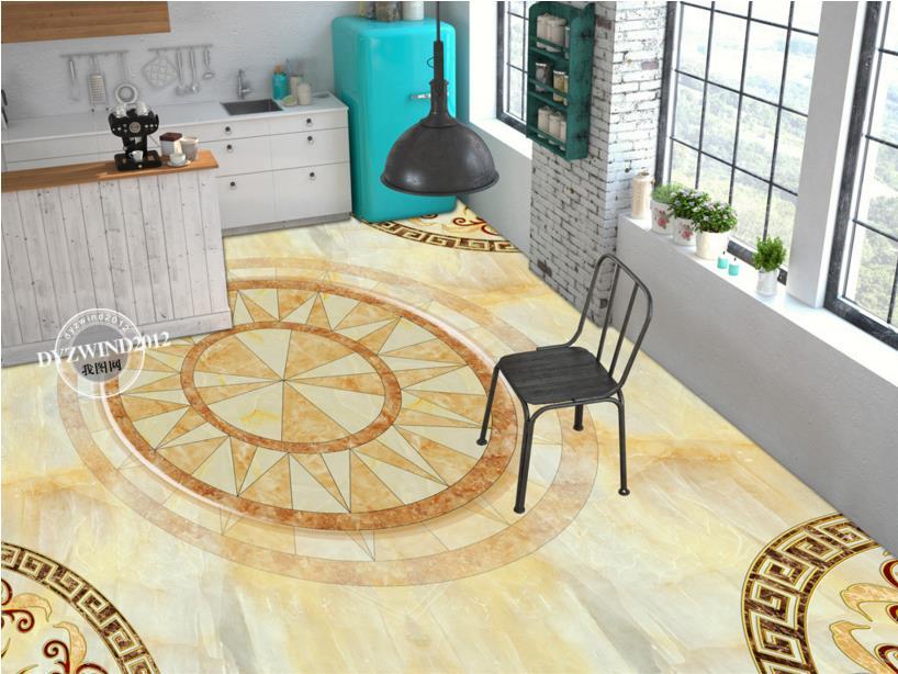 ФОТО European marble 3d bathroom floor custom 3d floor tiles for living room self-adhesive waterproof wear pvc plastic flooring