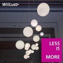 Новые белые стеклянный шар подвесной светильник отель mall спальня офис ресторан бар столовая молоко мяч круглый глобальной подвеска свет