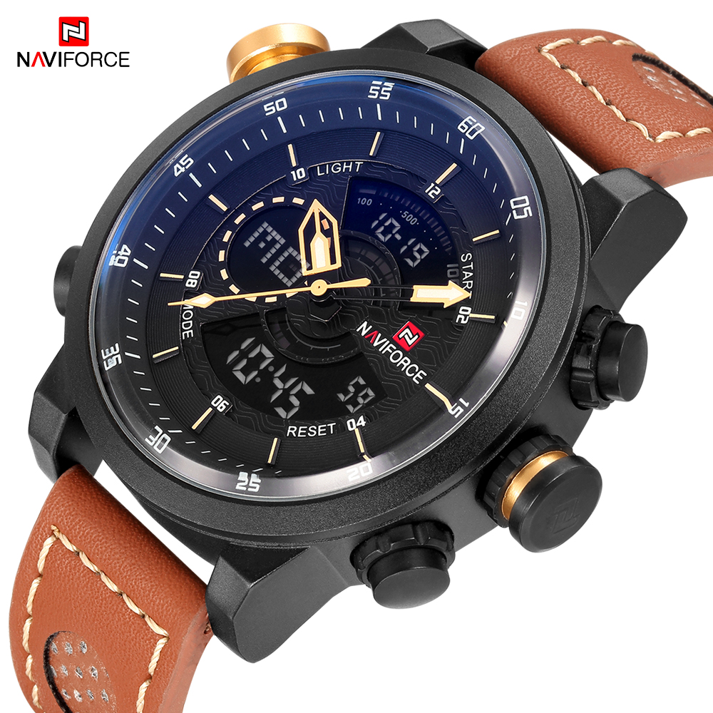 NAVIFORCE Top Luxury Men Watches Mens Brand Watch Sport Army Military Wristwatch Date Display Saat Male Clock Waterproof Relogio цена и фото