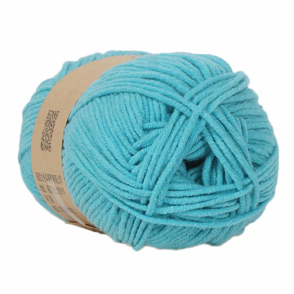 1 PC 50g len sợi Chunky Tay Đầy Màu Sắc Đan Bé Sữa Bông Crochet Dệt Kim Len merino len sợi dệt kim