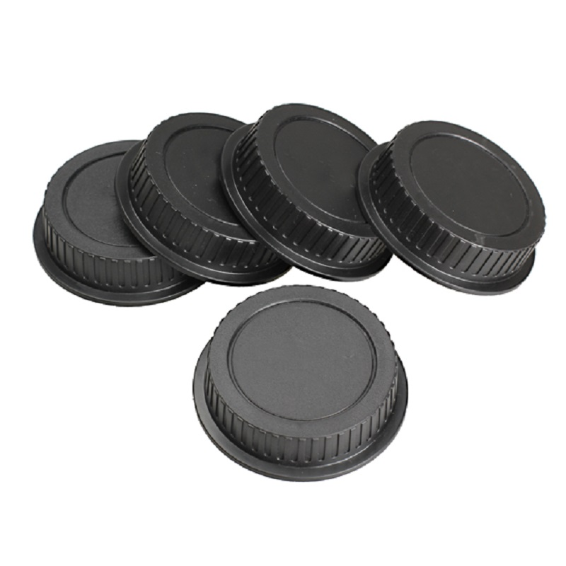 5PcsLot Camera Rear Lens Cap Protector Cover Universal Anti-Dust Lens Protective Cover Black Lens Caps Black for Canon DSLR