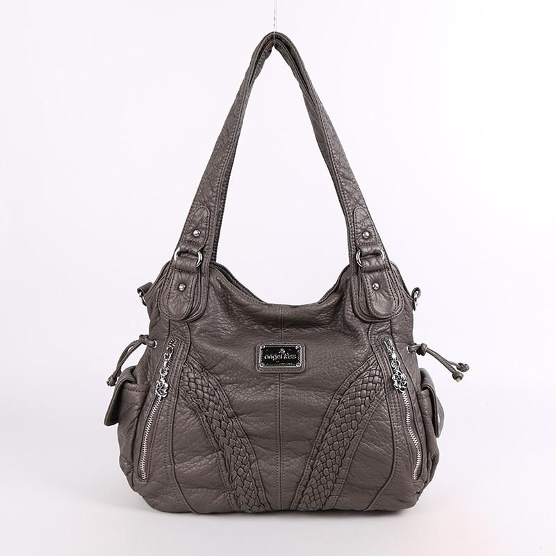 Мода Высокое качество Повседневное дизайнер Hobos сумка Для женщин сумки промывают кожа PU плеча ремень Сумки для дам