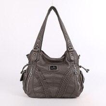 De moda de alta calidad diseñador vagabundos bolso, bolsos de las mujeres lavado cuero PU cabestrillo bolsas para damas